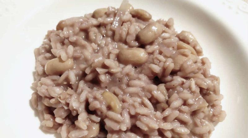 Risotto con i fagioli borlotti di Gambolò, ricetta originale pavese